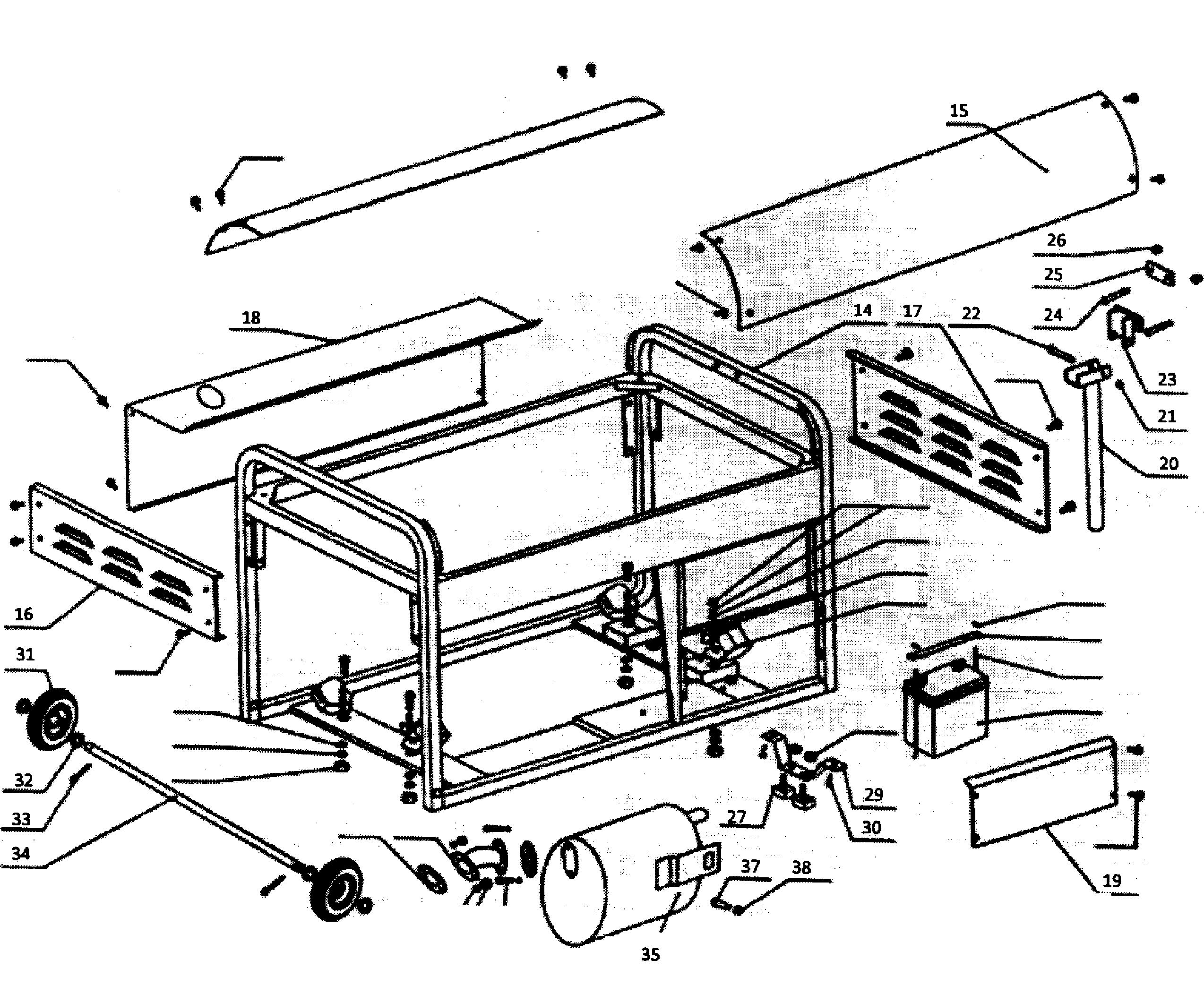 Steele model SPGG900E generator genuine parts