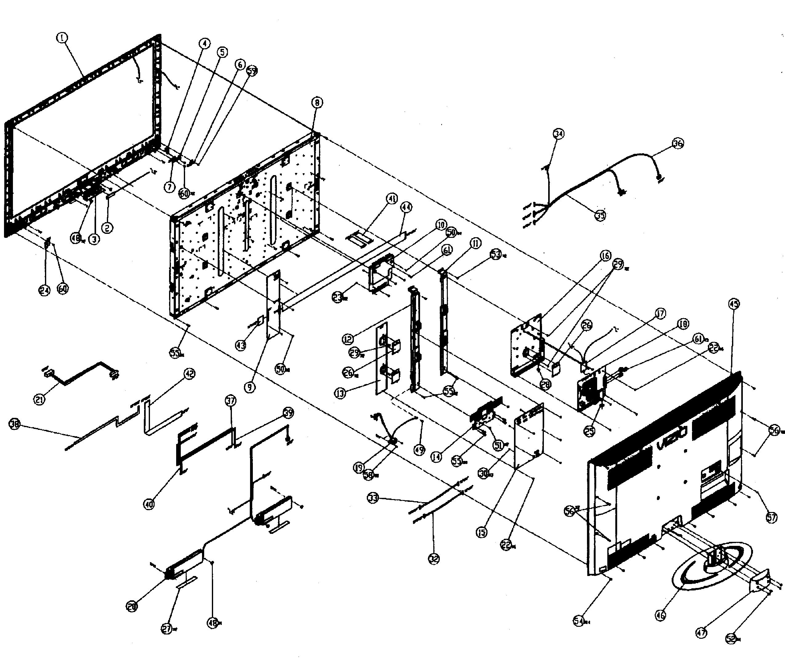 Vizio model XVT3D474SV lcd television genuine parts