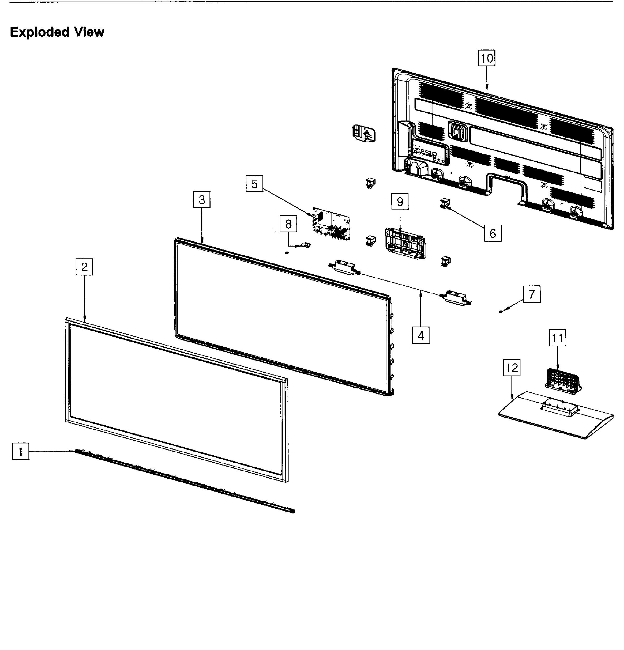Samsung model PN51E450A1FXZA-TD02 plasma television