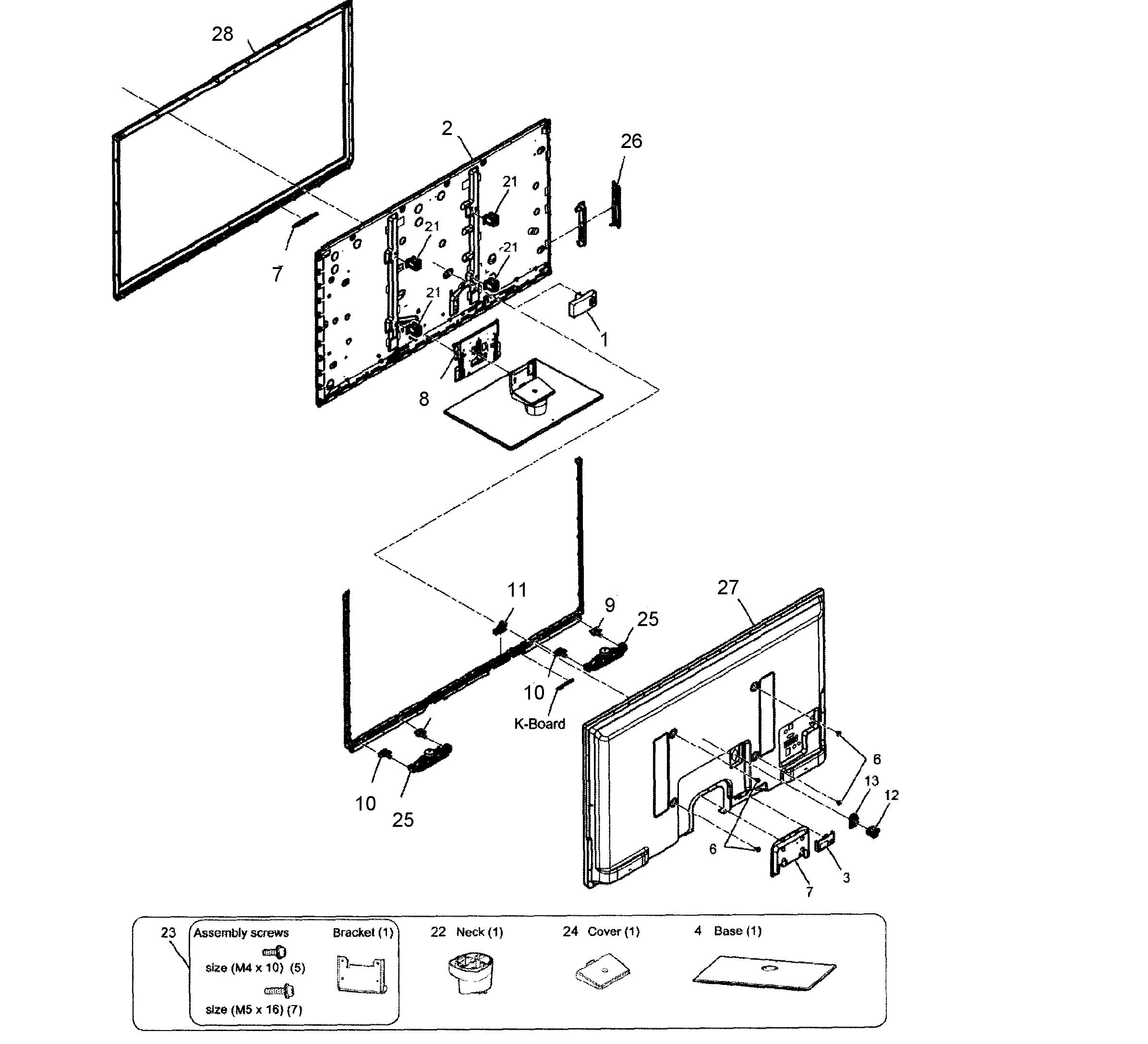 Panasonic model TC-P50UT50 plasma television genuine parts