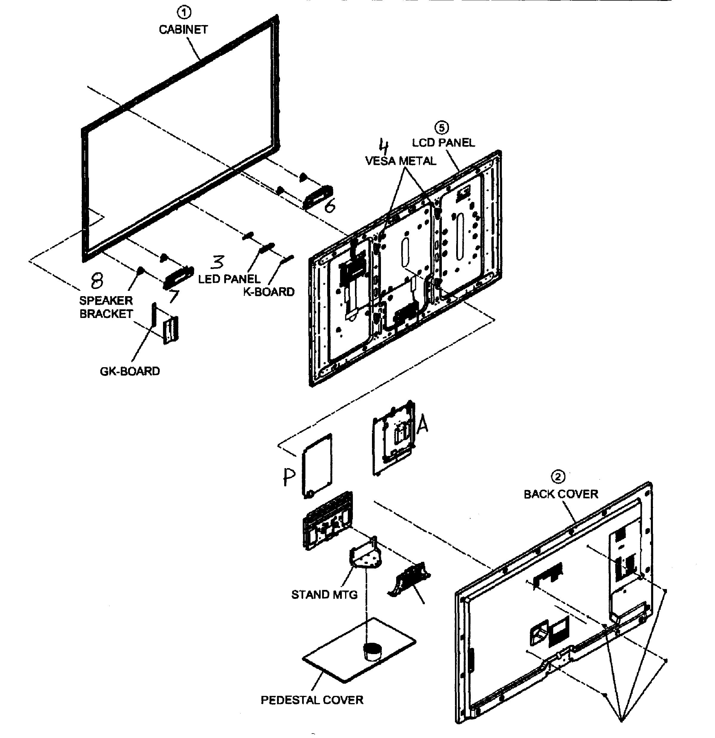 Panasonic model TC-L55E50 lcd television genuine parts