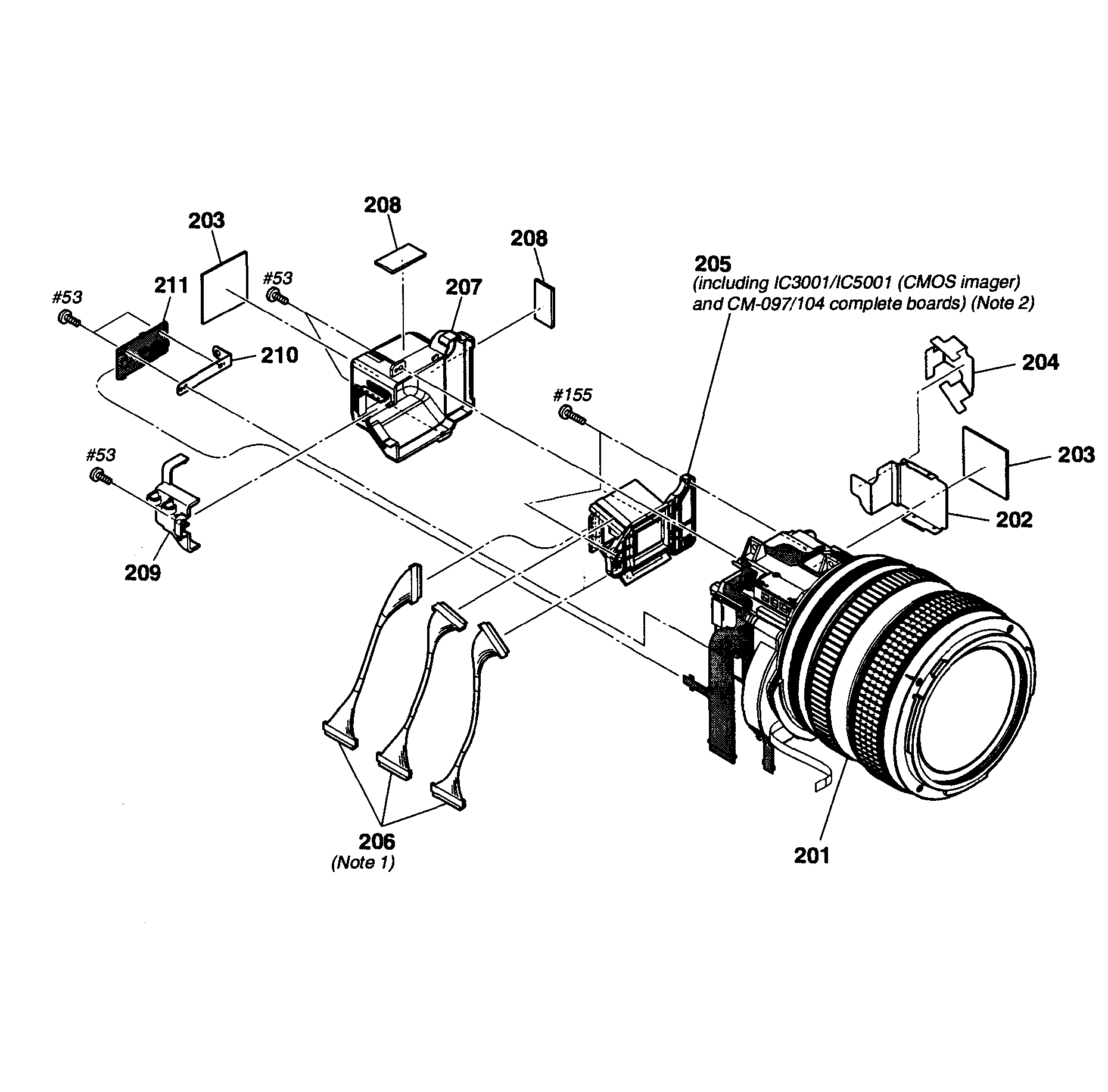 Sony model HDR-FX1000 digital camcorder genuine parts