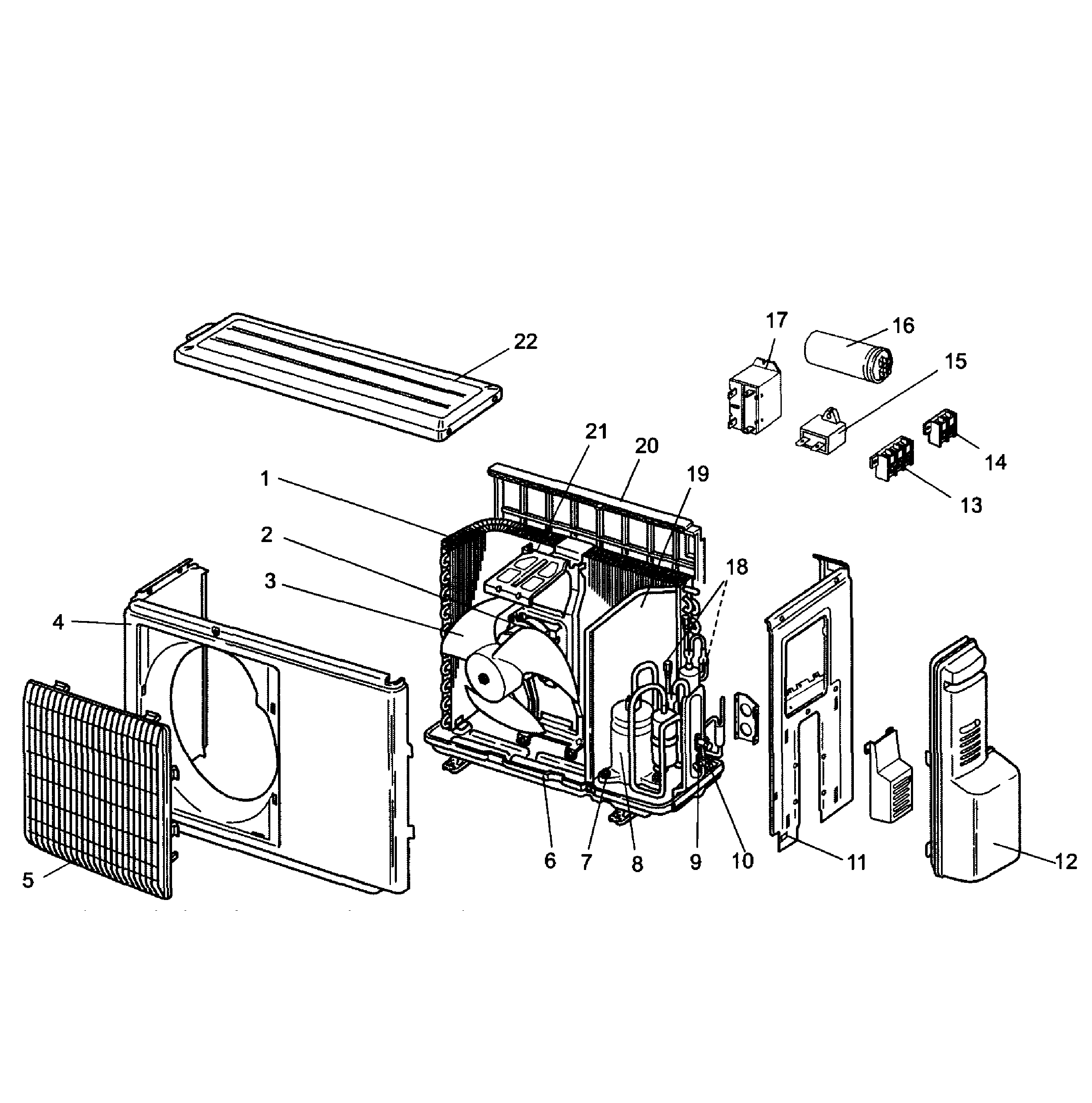 outdoor unit diagram and parts list for mitsubishi airconditioner