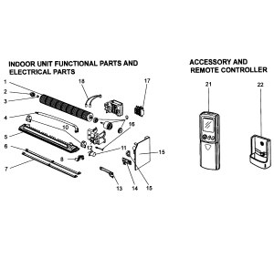 Mitsubishi model MSZA24NA air handler (indoor blower&evap