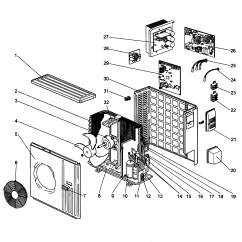Mitsubishi Split Ac Unit Wiring Diagram For Caravan Socket System A C Heat Pump Parts Model
