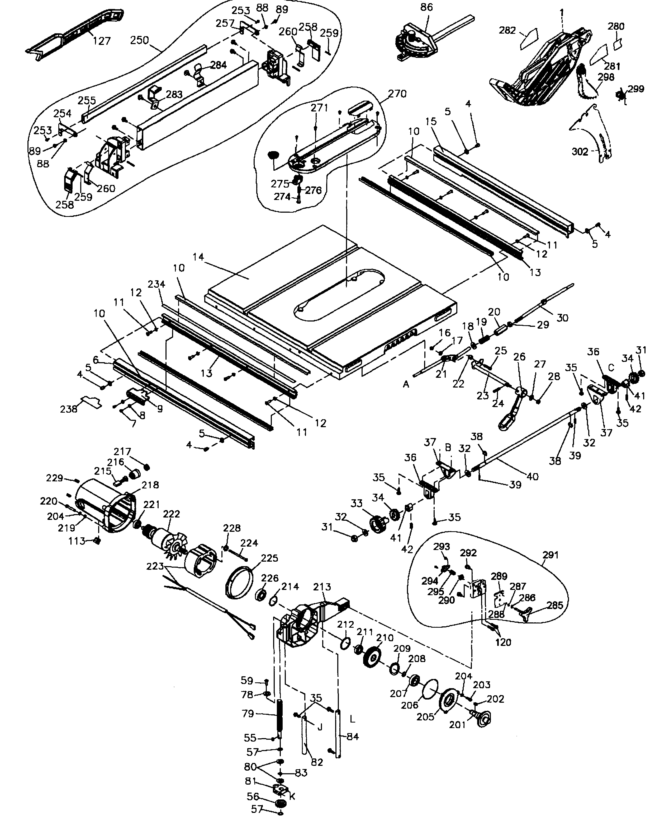 dewalt table saw parts diagram 2005 hyundai santa fe fuse box model dw745type2 sears partsdirect