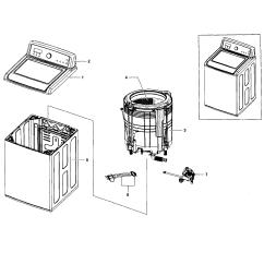 Front Load Washer Parts Diagram Porsche Wiring Diagrams 944 Samsung Model Wa5451anpxaa0002 Sears