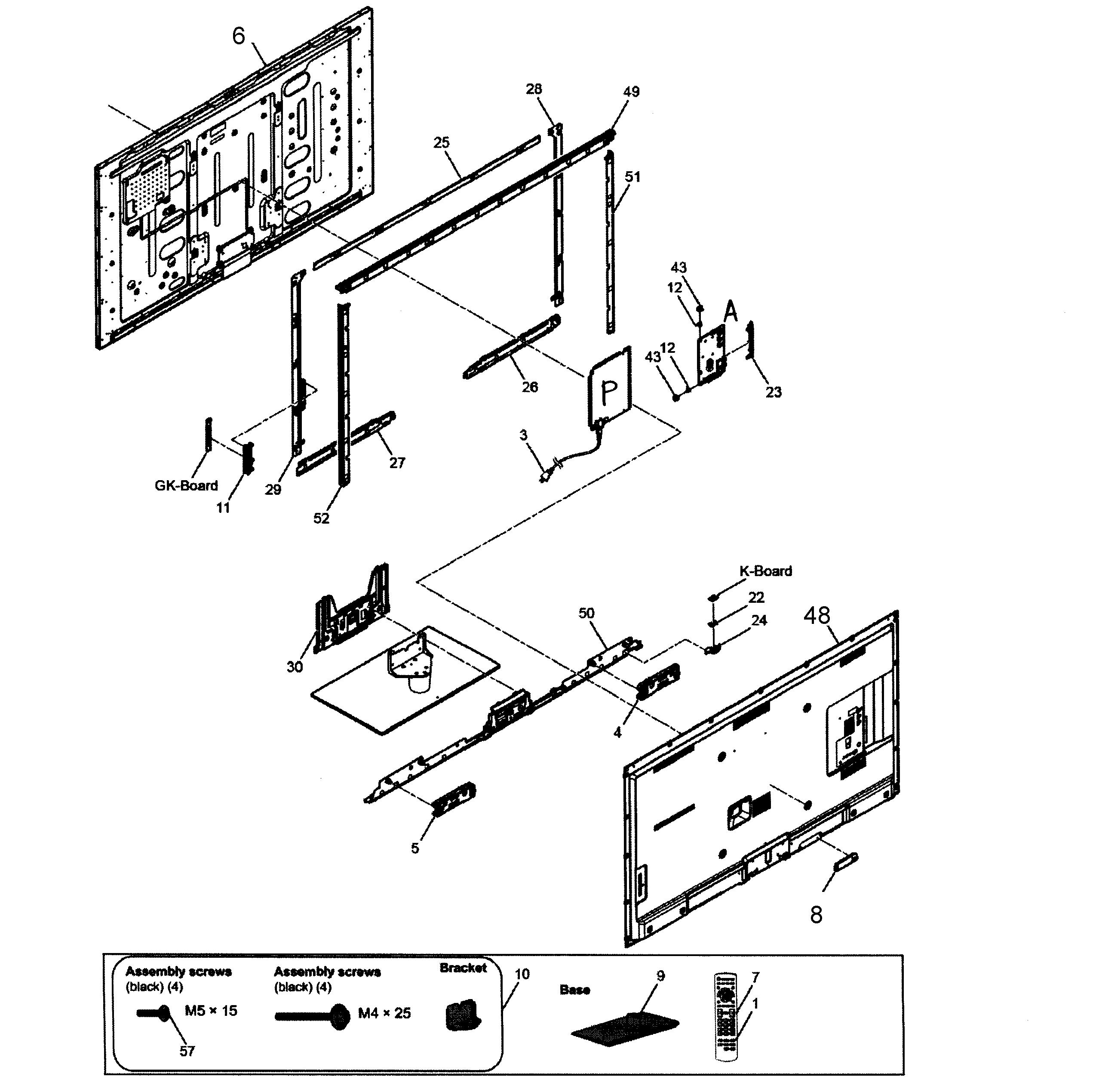 Panasonic model TC-L58E60 lcd television genuine parts