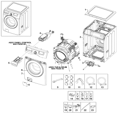 Front Load Washer Parts Diagram 2002 Mitsubishi Lancer Car Radio Stereo Audio Wiring Samsung Model Wf220anwxaa0001 Sears