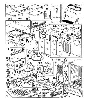 SAMSUNG REFRIGERATOR Parts   Model rf266aepnxaa0001