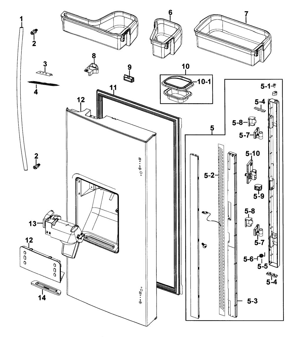 medium resolution of samsung model rf267aers xaa 00 bottom mount refrigerator genuine parts rh searspartsdirect com samsung refrigerator parts diagram rf18 samsung refrigerator