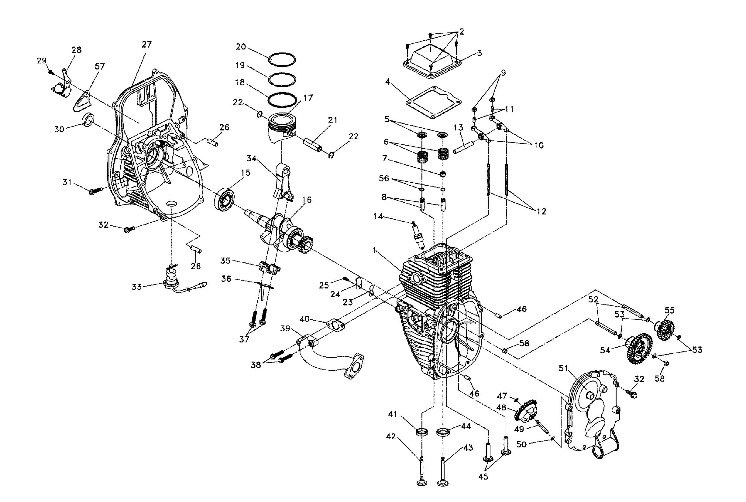 Generac model IX2000-5793-0 generator genuine parts
