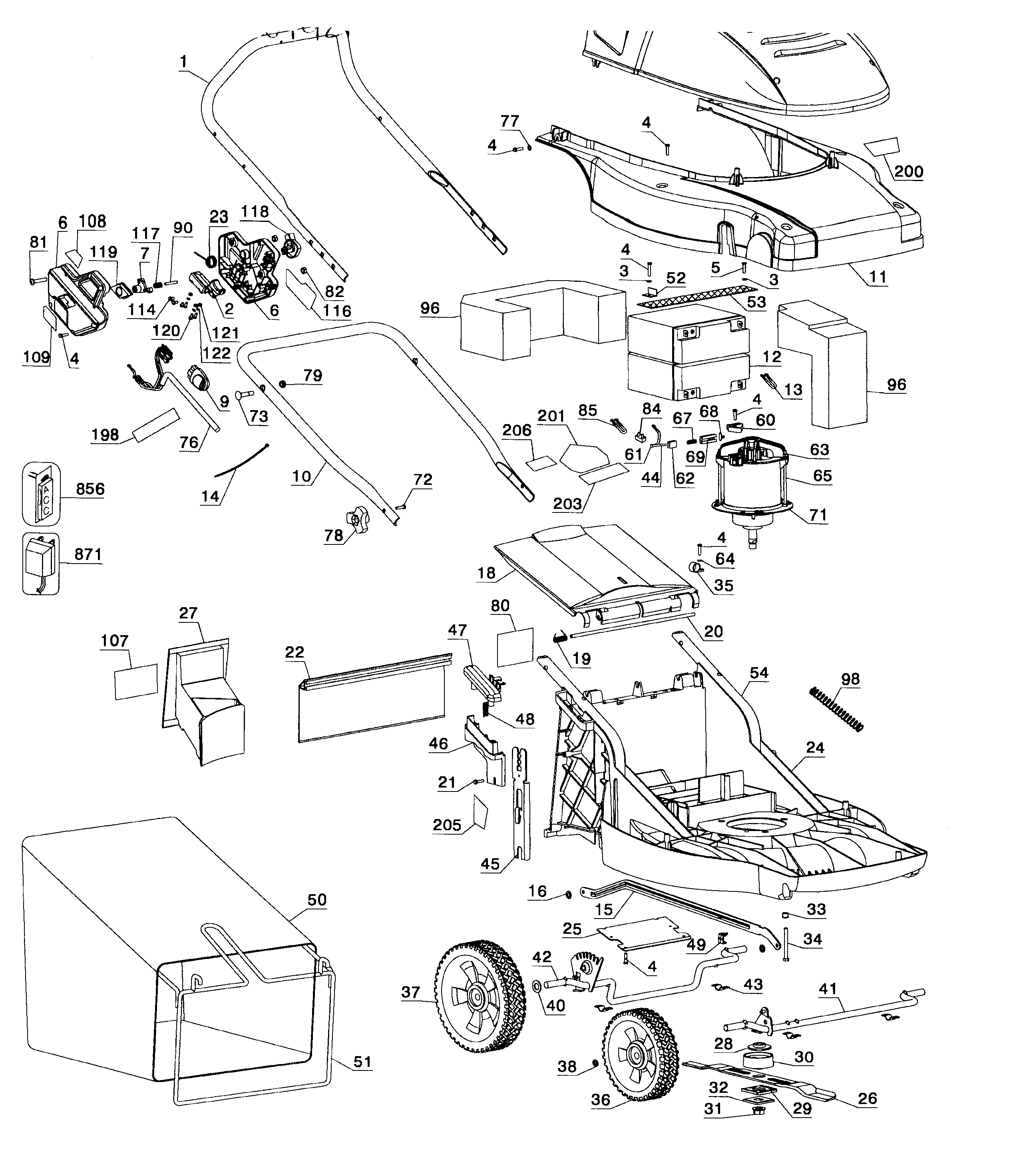 Lawn Mower Diagram And Parts List For Black Decker