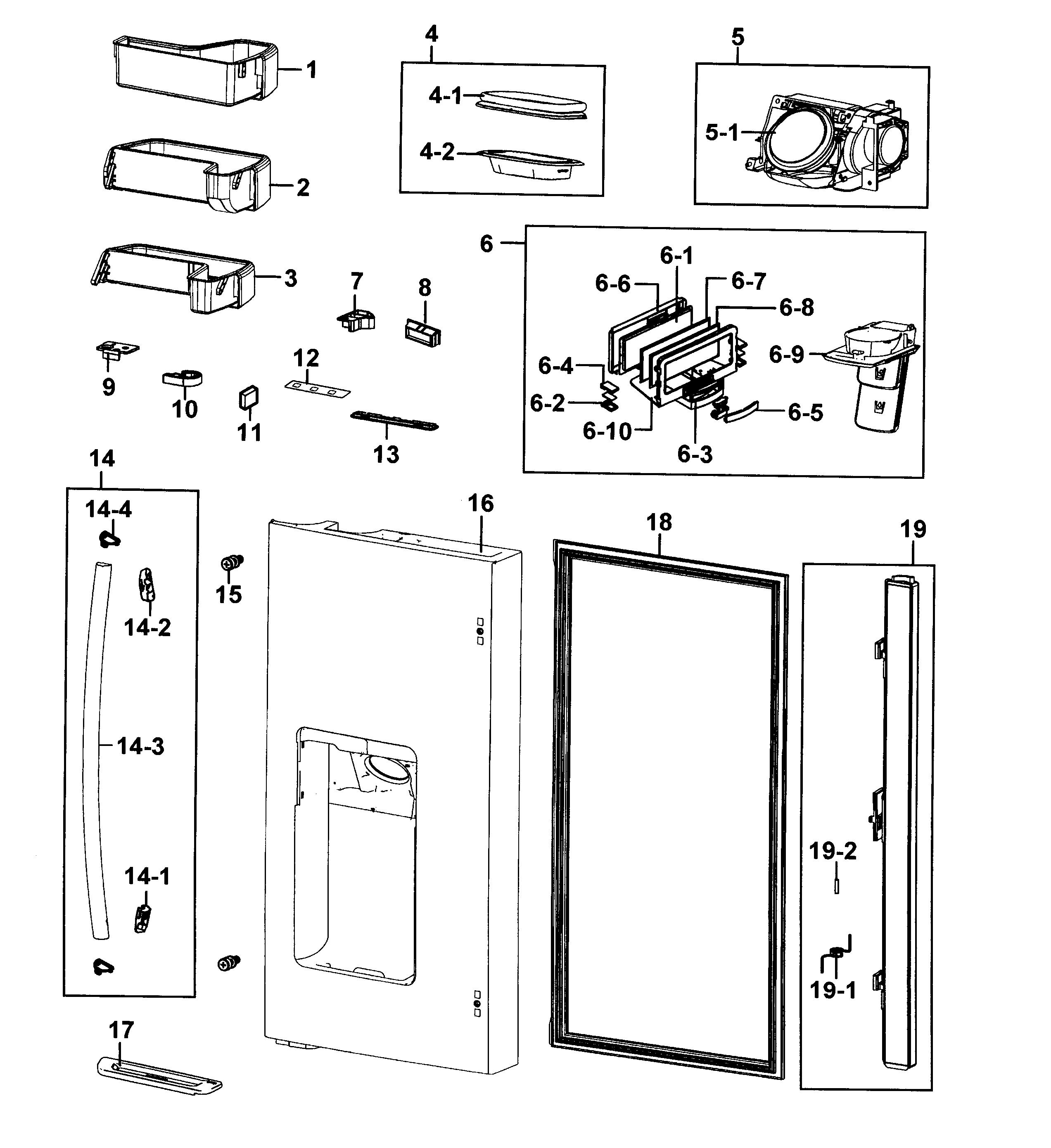 Samsung model RF4287HARS/XAA-0001 bottom-mount