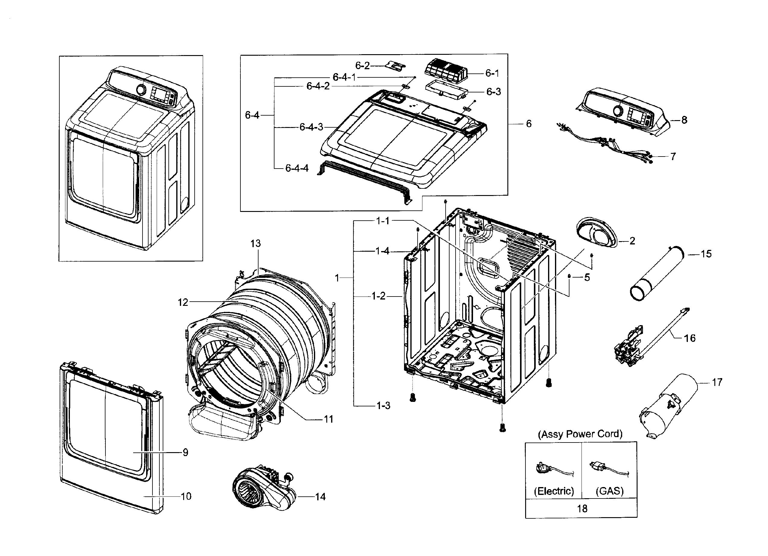 Wiring Diagram: 35 Samsung Dryer Parts Diagram