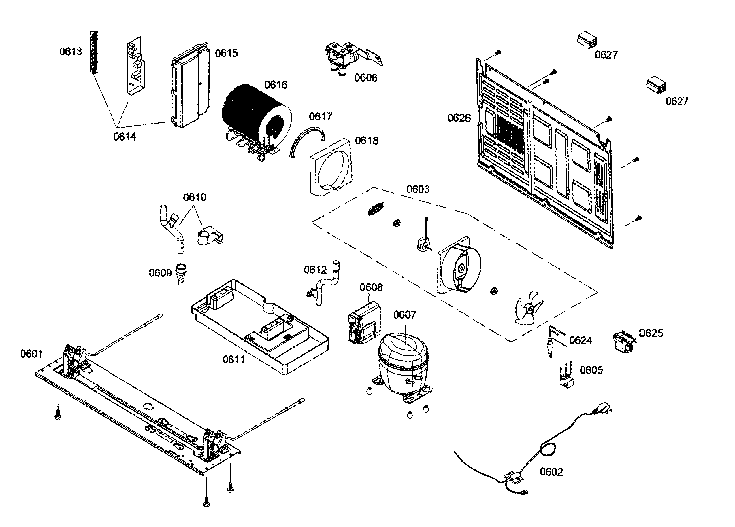 Bosch model B22CS30SNS/02 side-by-side refrigerator