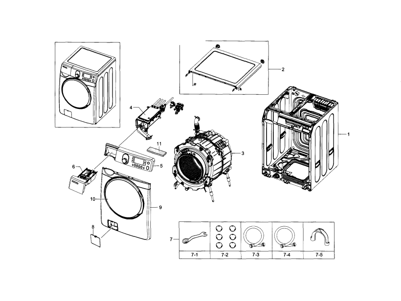 samsung model wf448aap xaa 05 residential washers genuine parts   inspirational graphs front load washer parts wiring diagram samsung loader washing  machine