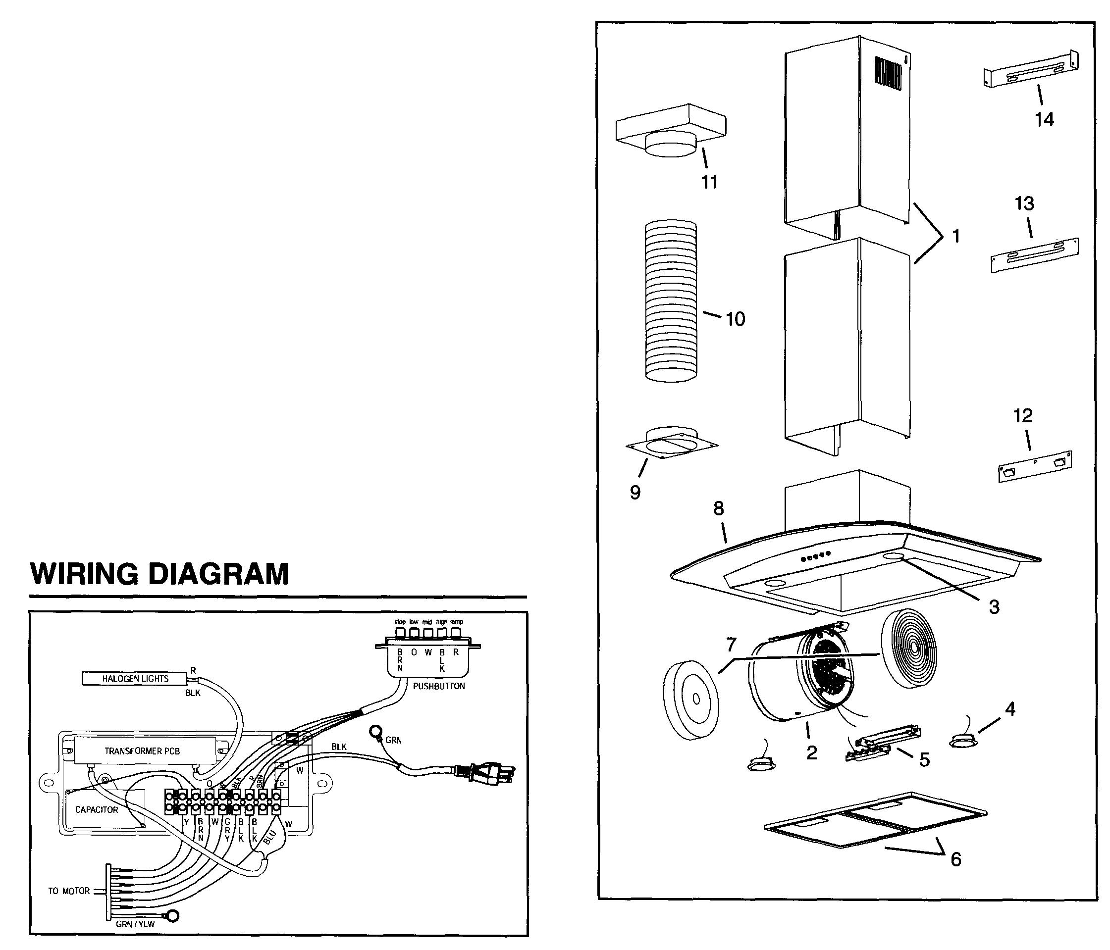Broan Range Hood Wiring Diagram : 31 Wiring Diagram Images