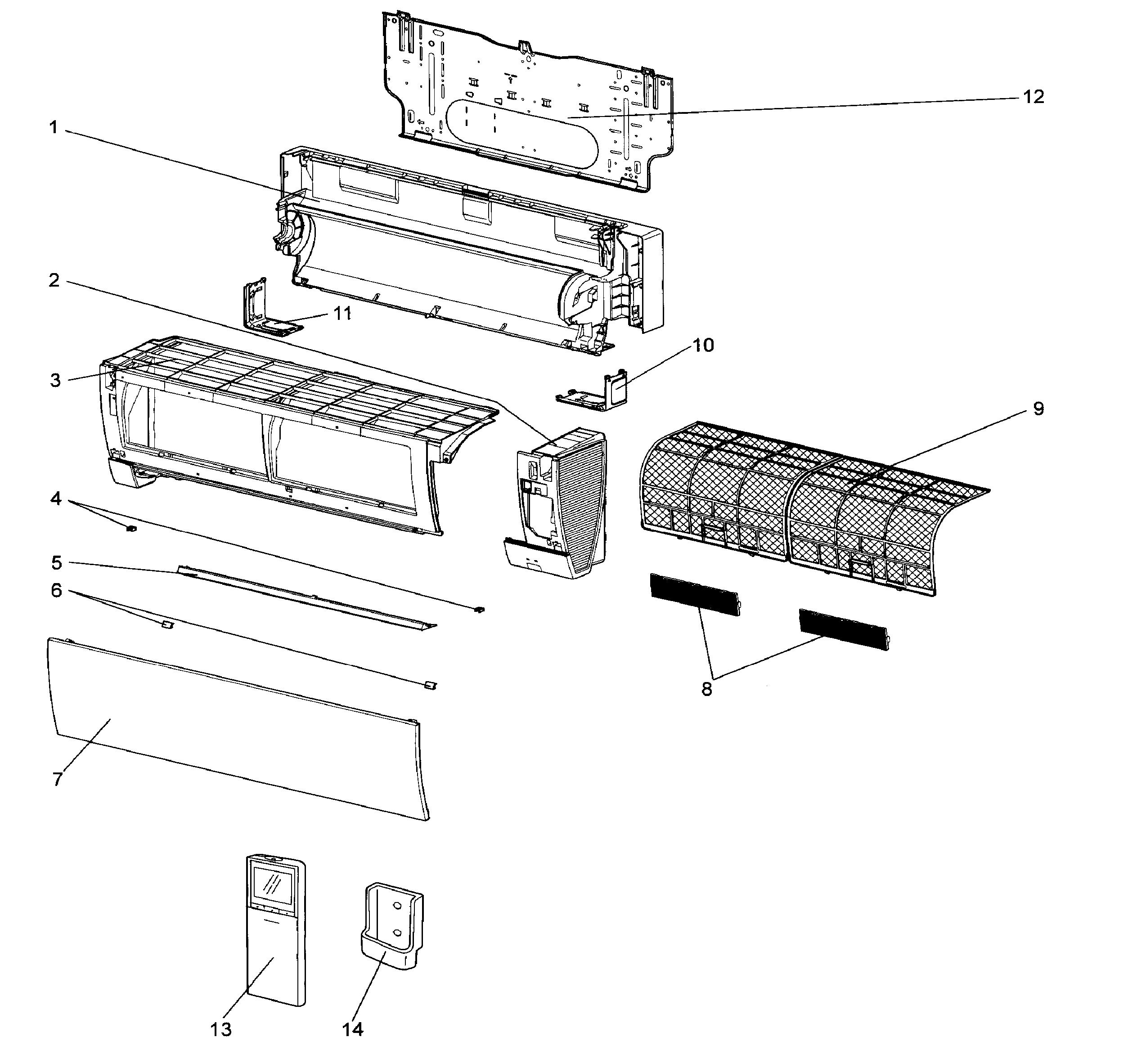 Mitsubishi model MSZ-FH12NA air handler (indoor blower