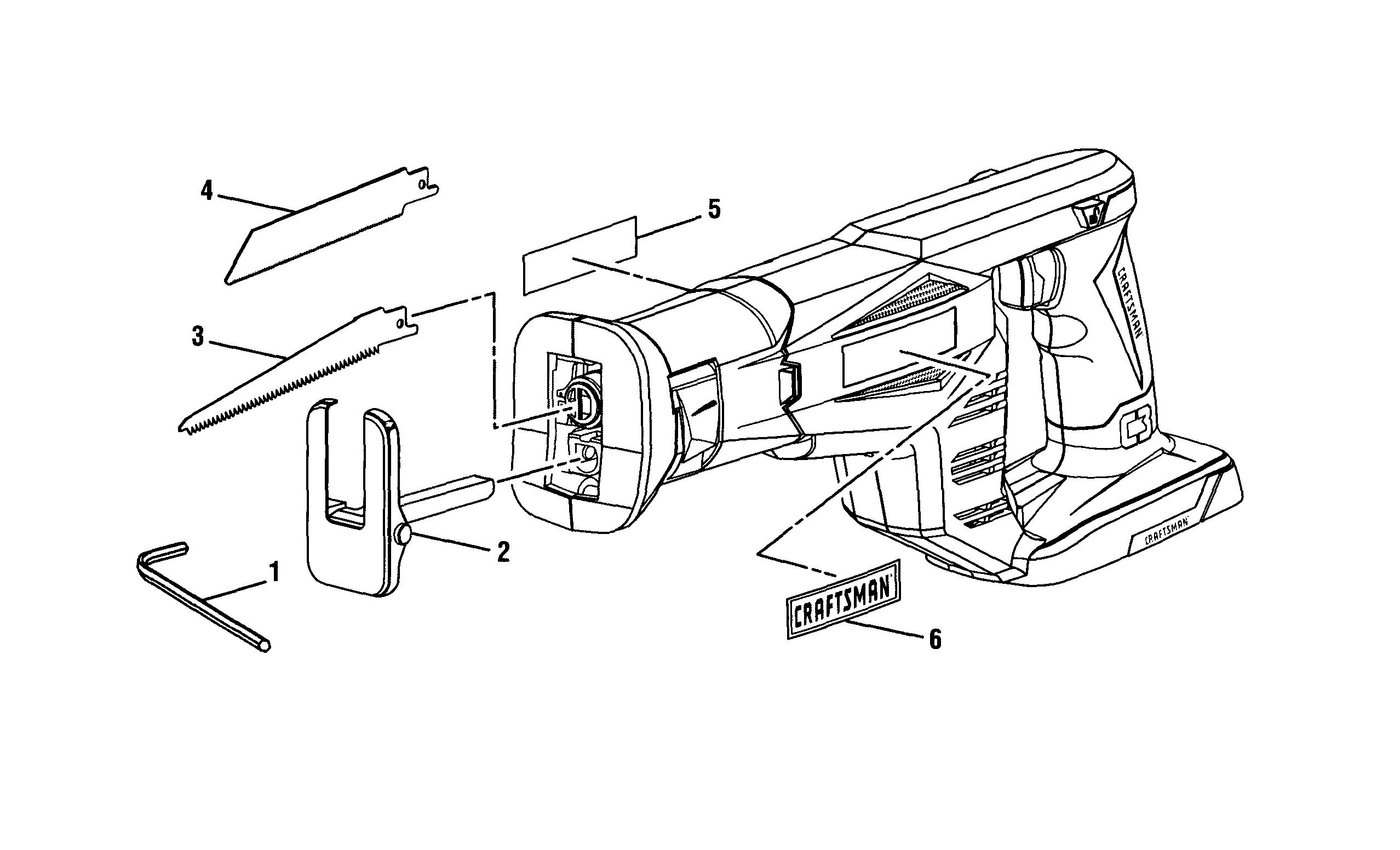 Craftsman model 315CRS1000 saw reciprocating genuine parts