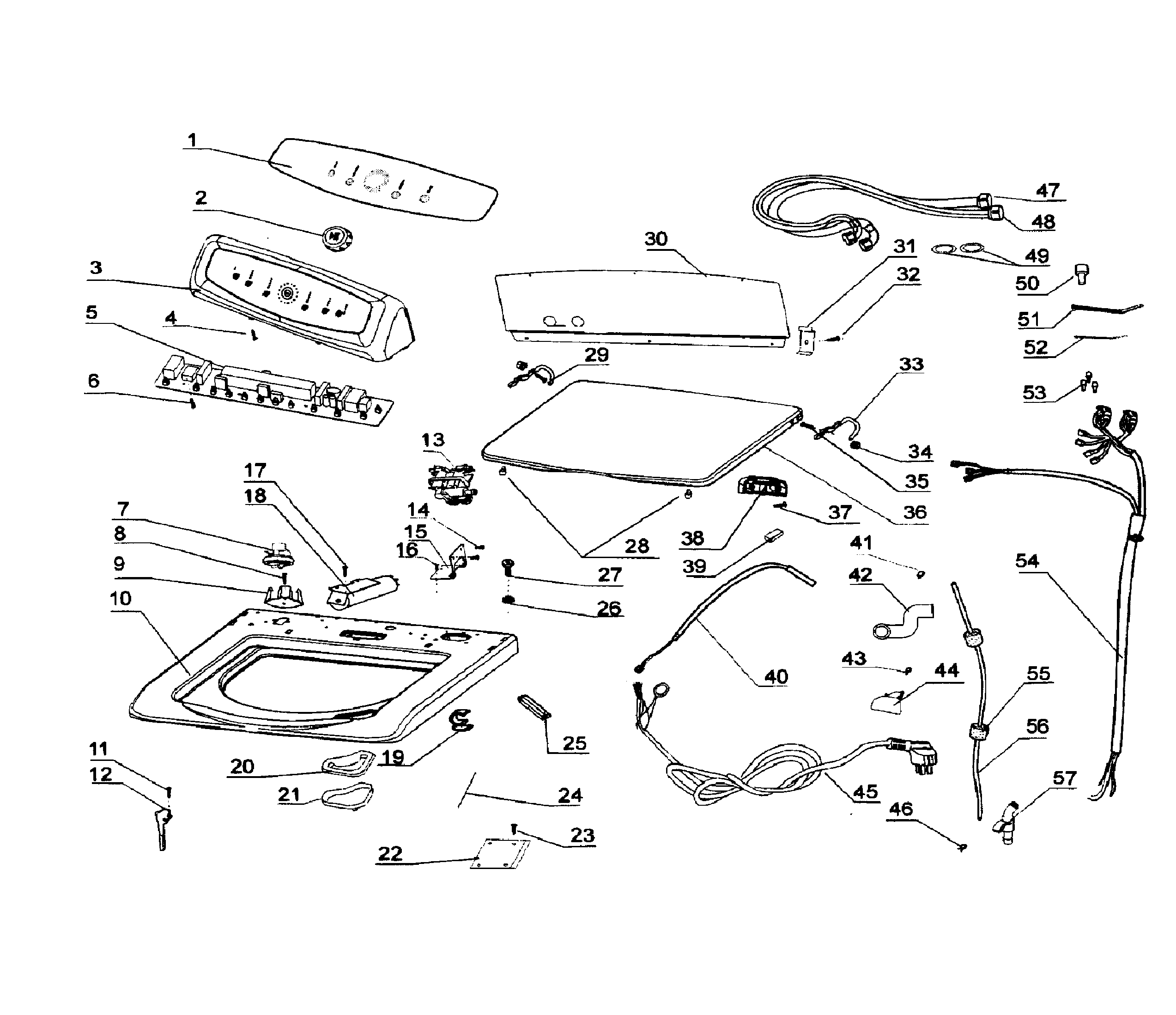 haier rwt360bw parts diagram