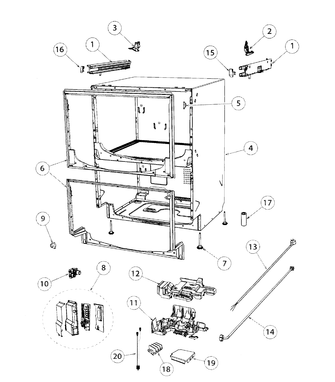 Fisher-Paykel model DD24DAX8-99657-A dishwasher genuine parts