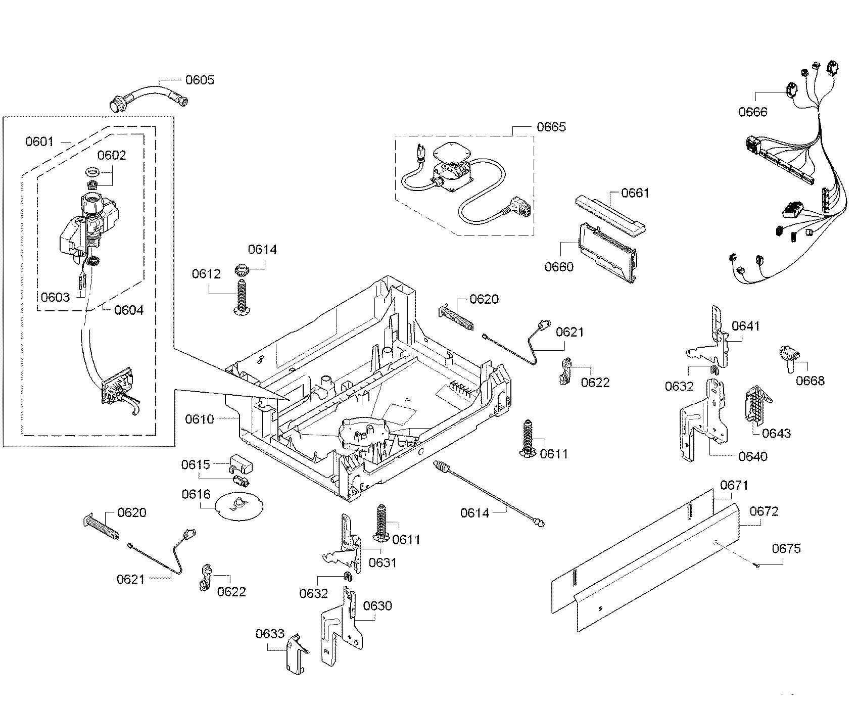Bosch model SGX68U55UC/C9 dishwasher genuine parts