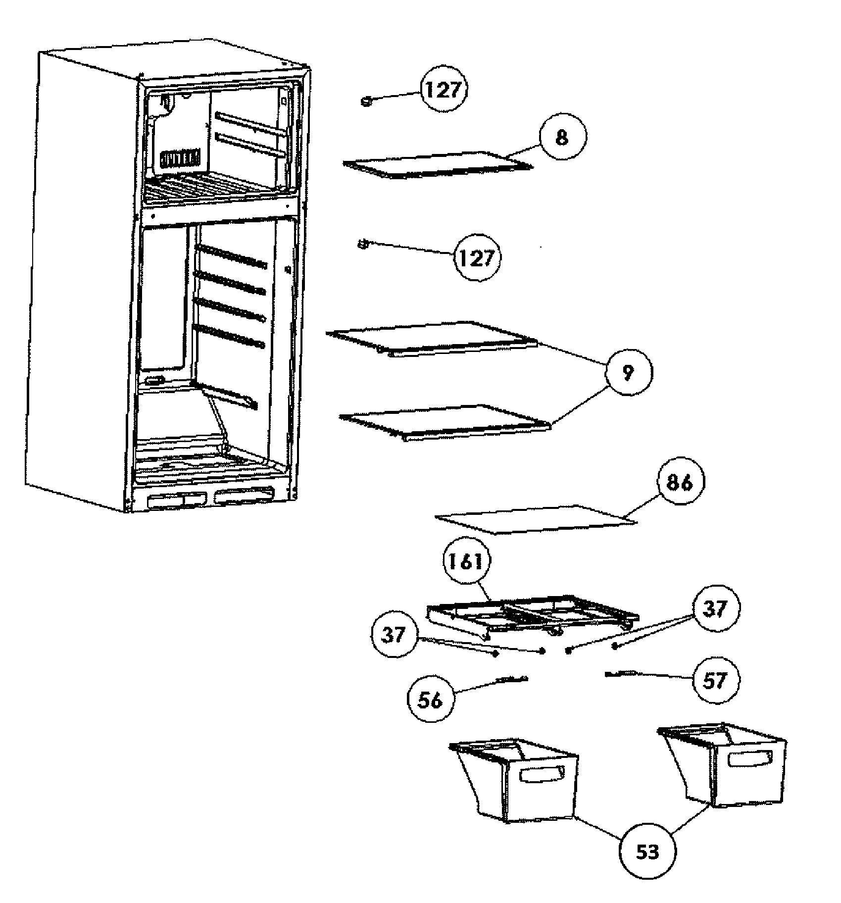 Haier model HRT18R1AWB top-mount refrigerator genuine parts