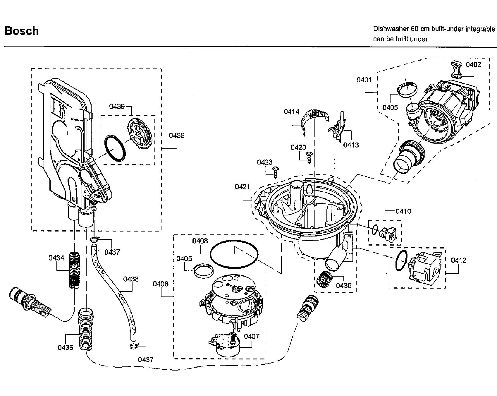 Bosch model SHP68T55UC/09 dishwasher genuine parts