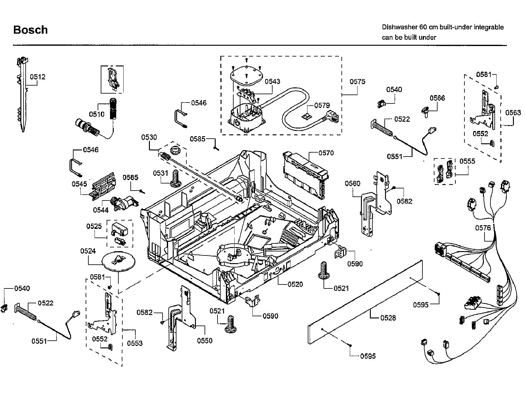 Bosch model SHXM78W55N/01 dishwasher genuine parts