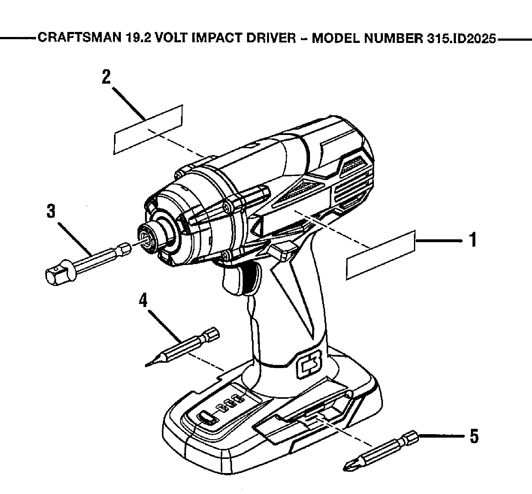 Craftsman model 315ID2025 impact tool genuine parts