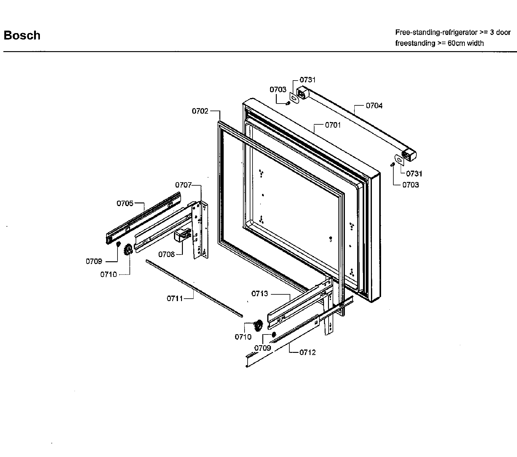 Bosch model B26FT80SNS/06 bottom-mount refrigerator