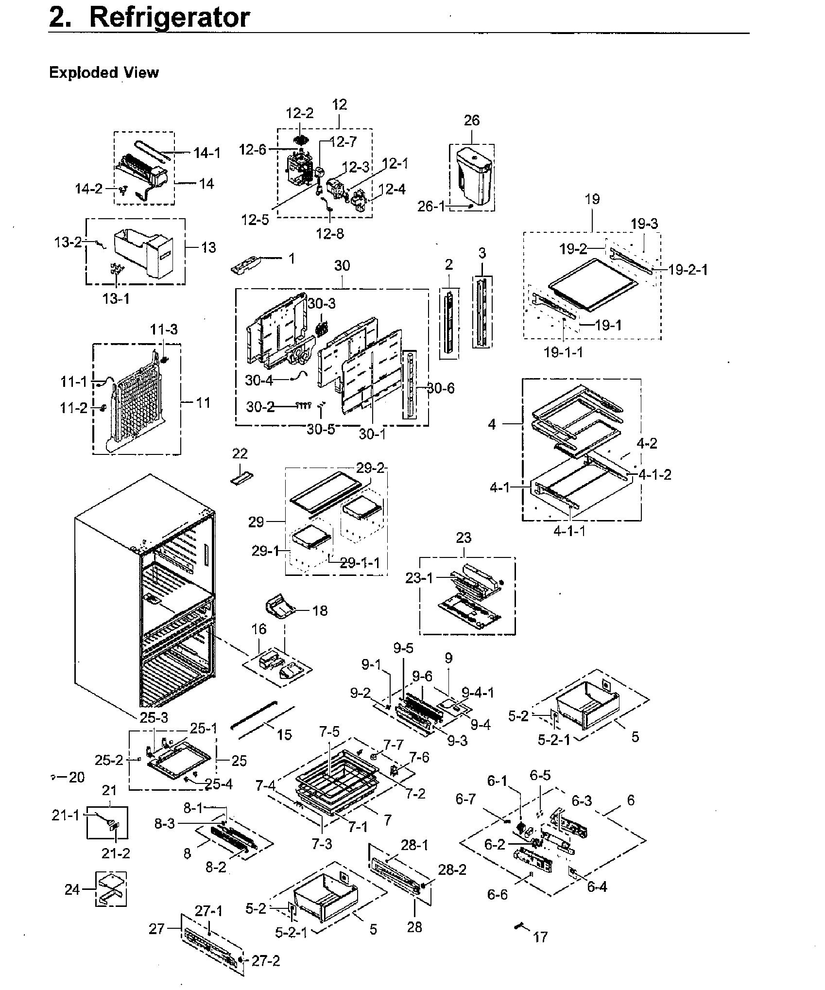 Samsung model RF23M8070SR/AA-00 bottom-mount refrigerator