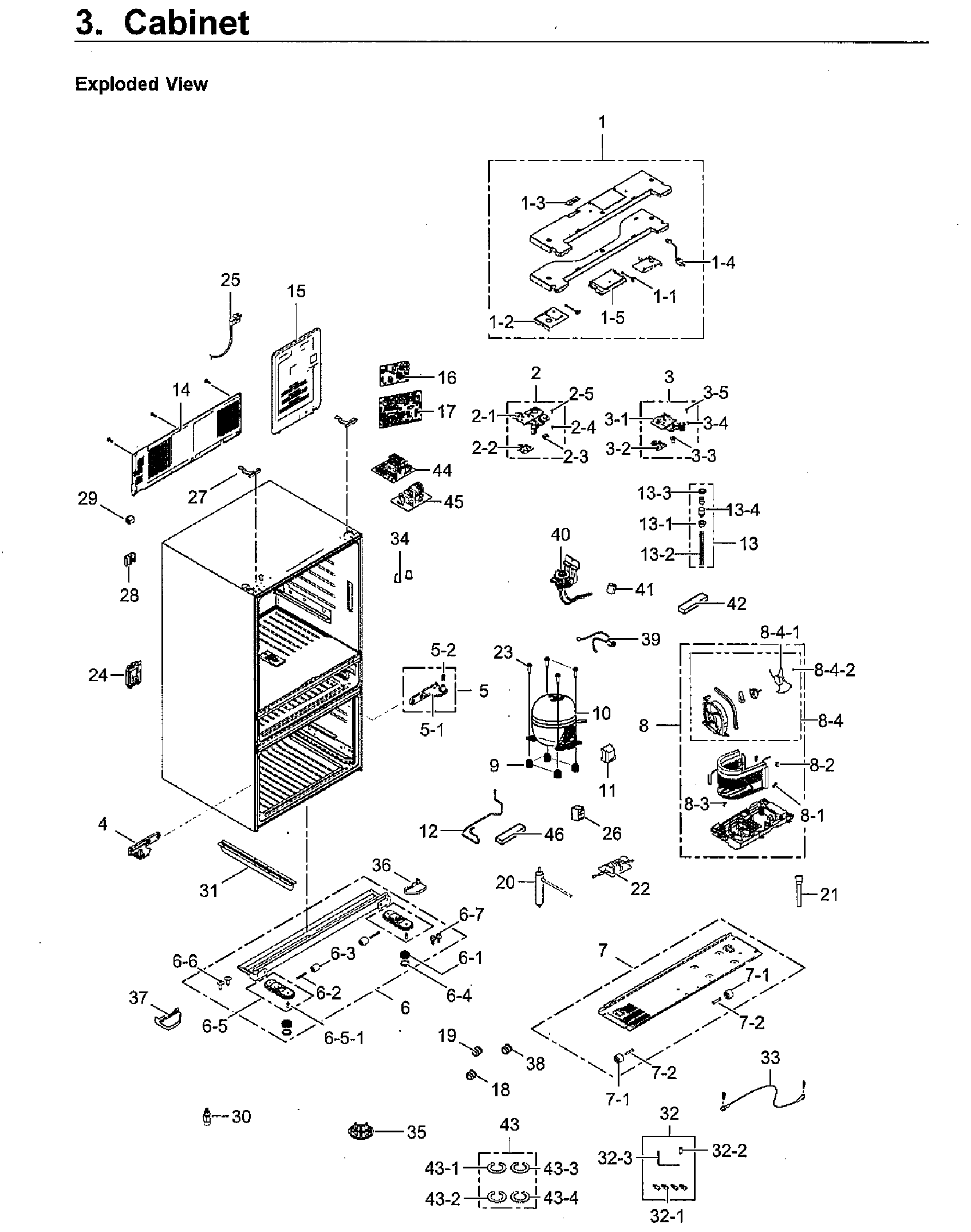 Samsung model RF23M8090SG/AA-00 bottom-mount refrigerator