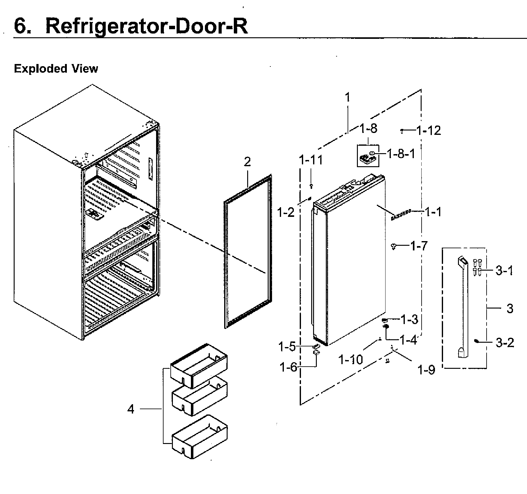 Samsung model RF23M8090SG/AA-00 bottom-mount refrigerator