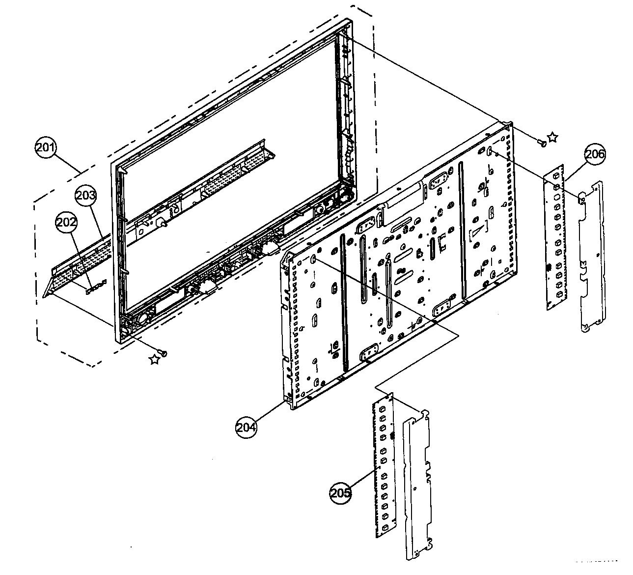 Sony model KDL-40V3000 lcd television genuine parts