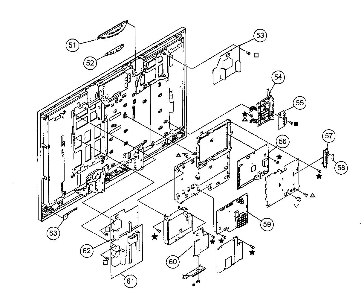 Sony model KDL-46VL130 lcd television genuine parts
