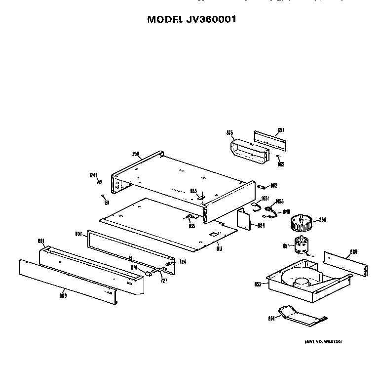 Ge model JV360001 range hood genuine parts