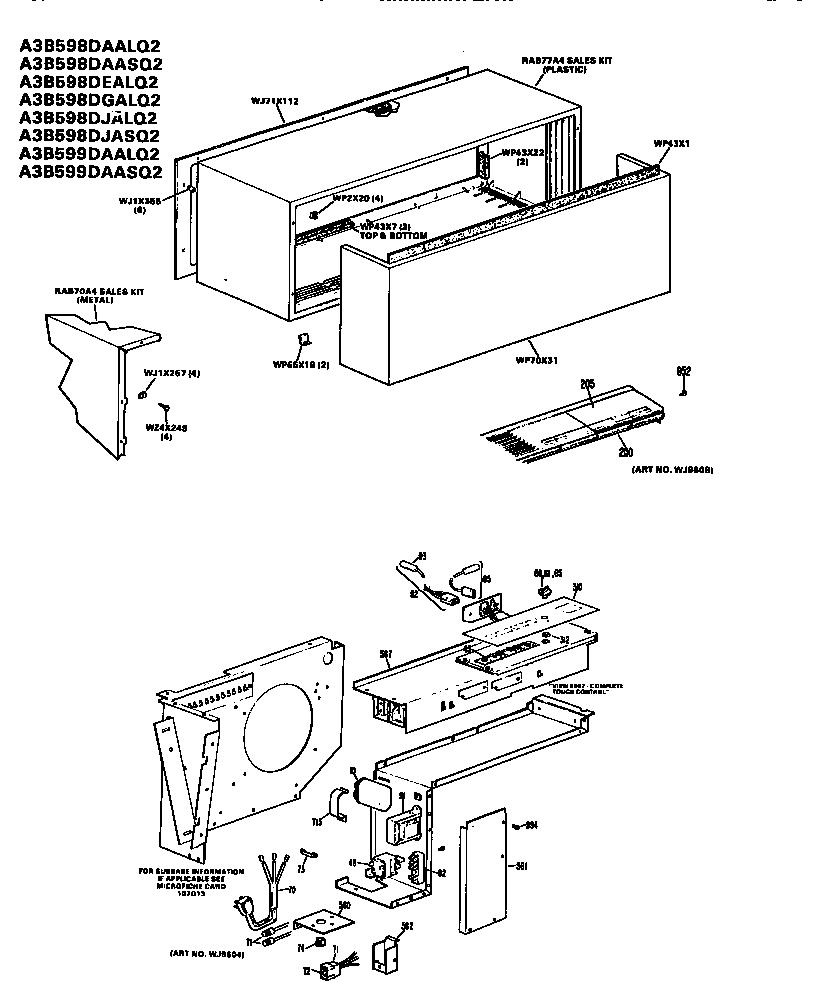 Ge model A3B598DAALQ2 air-conditioner/heat pump(outside