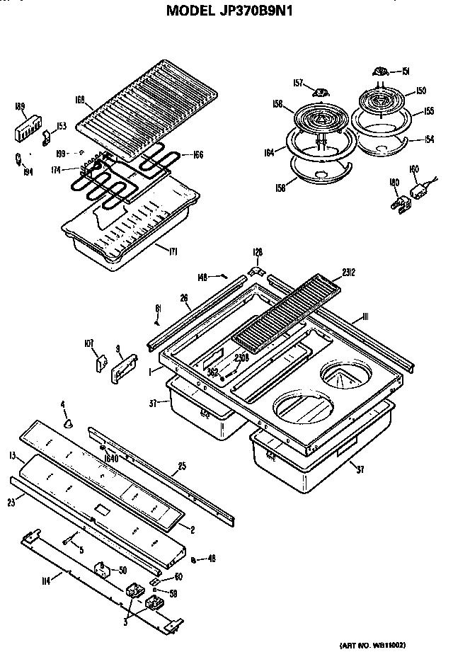 Ge model JP370B9N1 counter unit electric genuine parts