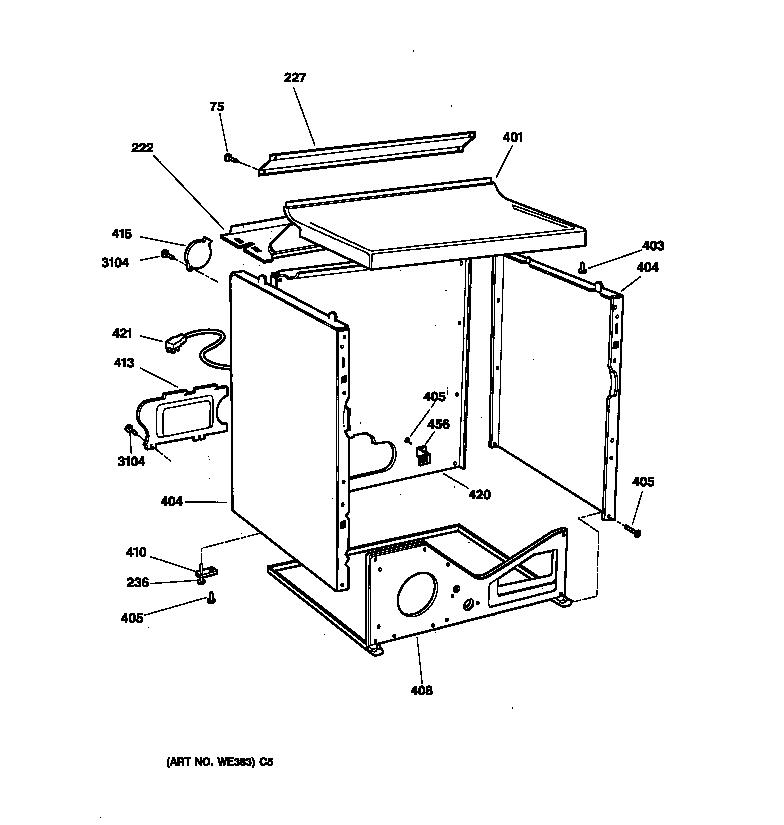 Ge model DBXR453GV0WW residential dryer genuine parts