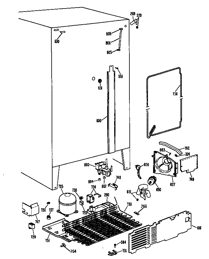 Ge model TFX27ZRSAAD side-by-side refrigerator genuine parts
