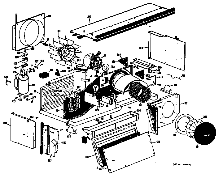 Ge model A4B568DGFSQ1 air-conditioner/heat pump(outside