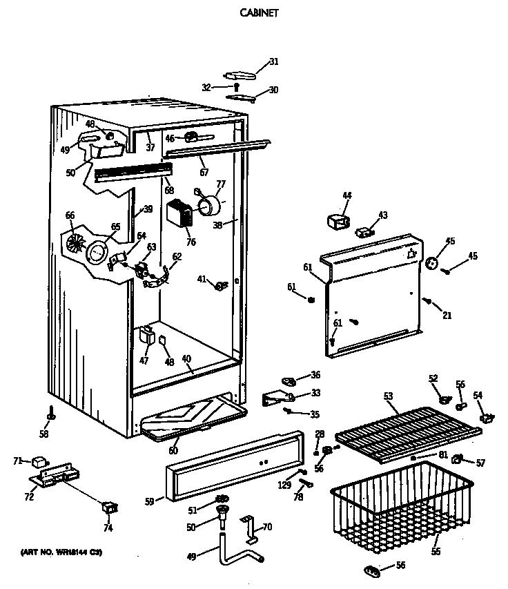 Ge model FF16DSDRWH upright freezer genuine parts