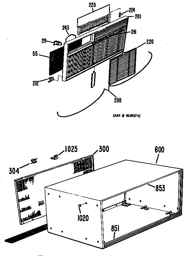 Ge model SL223 air-conditioner/heat pump(outside unit