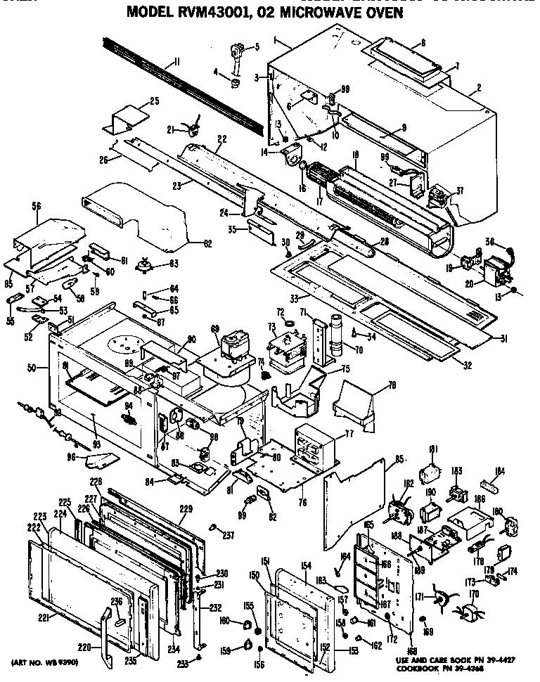 Hotpoint model RVM43002 microwave/hood combo genuine parts