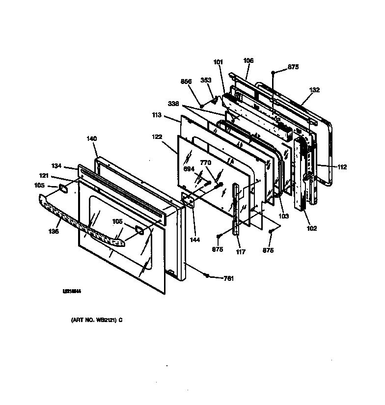 Ge model JKP15AA1AA built-in oven, electric genuine parts