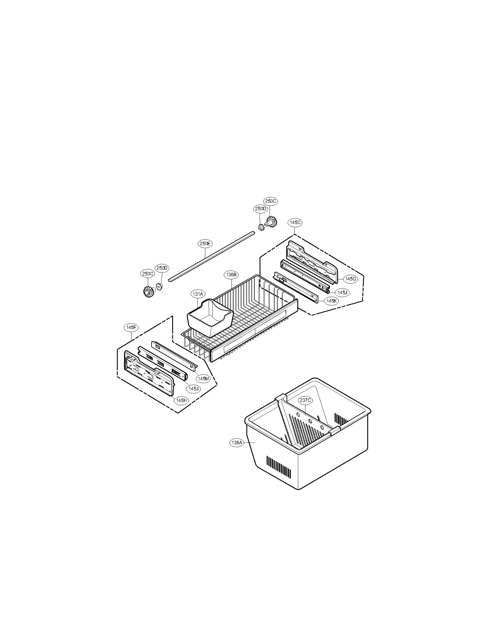 Lg model LFX25971ST/00 bottom-mount refrigerator genuine parts