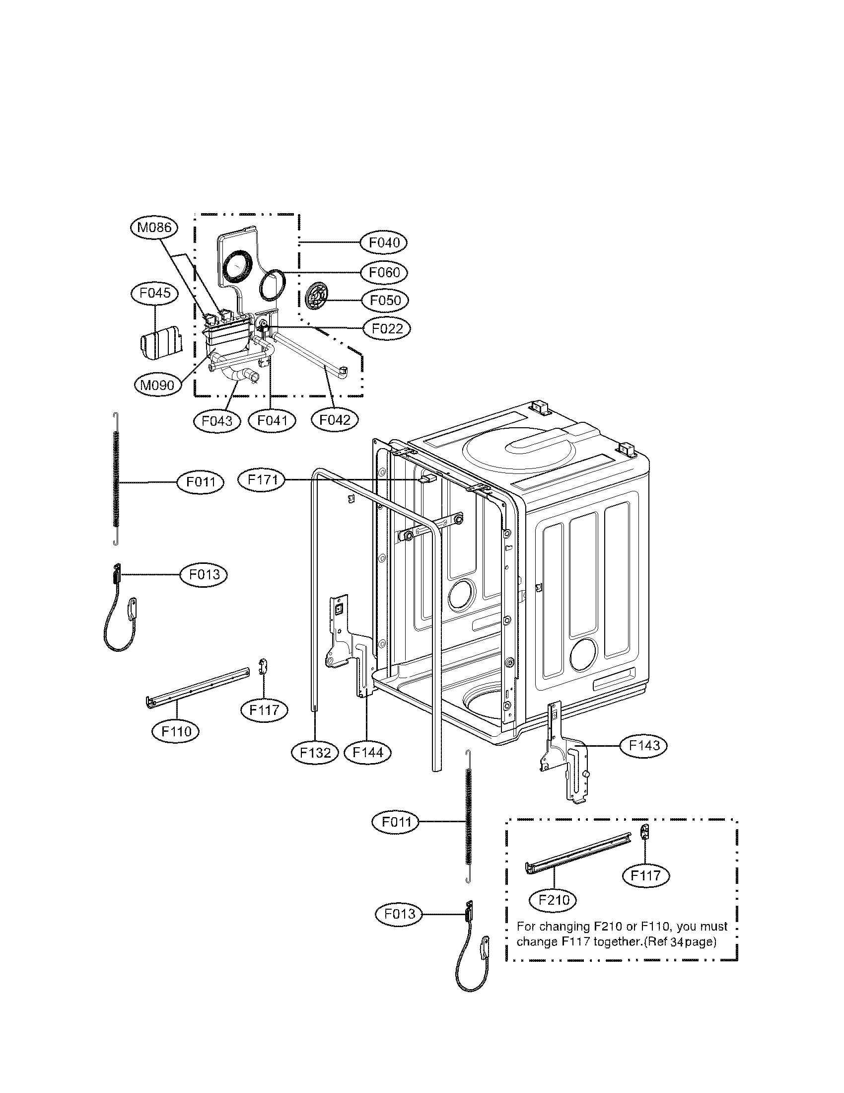 Lg model LDF6810WW-01 dishwasher genuine parts