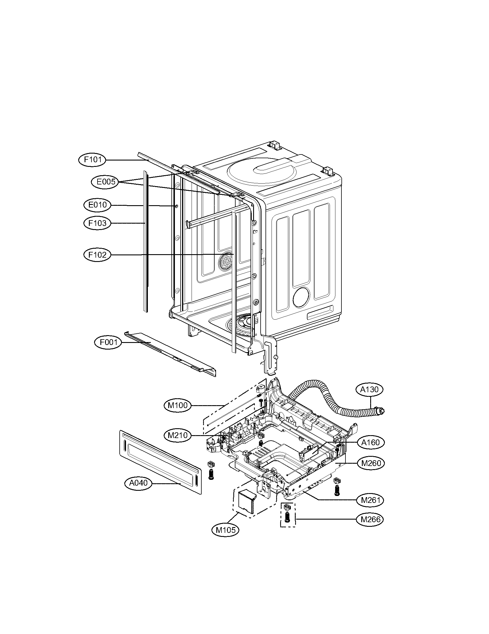 Lg model LDS4821BB dishwasher genuine parts